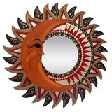 Mandala Espelhada Sol & Lua Artesanato Decorativa Bali