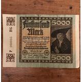 Billete De 5000 Marcos Alemán (1922)
