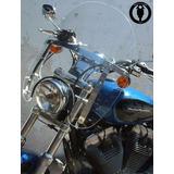 Parabrisa Motos Custom Big 17 Chopera Honda Yamaha Harley