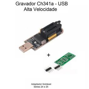 Gravador Ch341a Usb Eprom Bios Spi Flash /receptores/deco