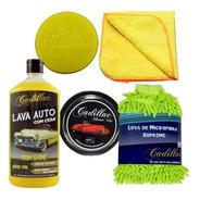 Kit Para Lavar Carros Shampoo High Shine C/ Cera Cadillac