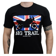 Camiseta Kallegari Big Trail Flag Bmw Triumph Honda