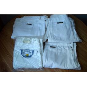 Pantalones Industriales Jean Clark Blancos Triple Costura