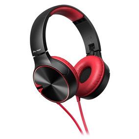 Fone De Ouvido Vermelho Com Preto Pioneer Headphone Mj722t-r