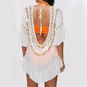 Vestido Blusa Con Borlas Ideal Playa Importado Divino!!!!