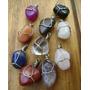 10 Piedras Naturales Engarzadas Dije Pack Mayor Menor Collar