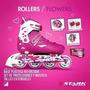 Rollers Stark Rosa Kit Flowers Mochila Casco Protecciones
