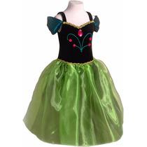 Disfraz Anna Frozen Princesas Coronación Primera Calidad