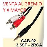 Cable Miniplug A 2 Rca 1.50 Mts Precio Para Mayorista