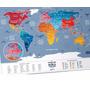 Mapa Mundi De Raspadinha Edição Color - Frete Grátis