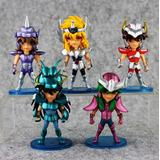 Coleção 5 Bonecos Miniaturas - Os Cavaleiros Do Zodíaco