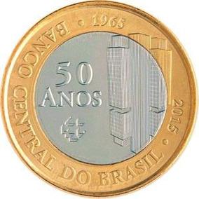 Moeda De 1 Real Comemorativa - 50 Anos Banco Central