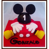 Torta Mickey Mouse Decorada Como En Foto!! 2 Kg Minimo