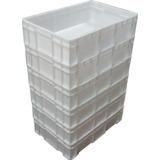 6 Caixas Plasticas Fechada Polietileno 28l Para Camara Fria