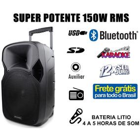 Caixa De Som Amplificada 150w P/ Festa - Frete Grátis