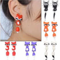 Aretes Animales, Moda Actual, 12 Pares Mayoreo,