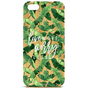 Funda Iphone Bambú ( Live More , Worry Less )