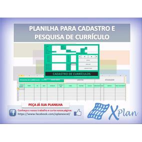 Planilha Em Excel Para Cadastro De Currículos