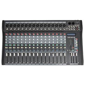 Mesa De Som Custom L16ec 16 Xlr Mp3 Echo (220v) - Nf + Grtia