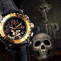 Reloj Eyki Militar Bajo Agua 100 Cristal Mineral Calendario