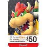 Tarjeta - Nintendo Ecash-eshop Gift Card $50
