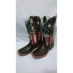 Bota Country Wrangler Estados Unidos Bico Quadrado Cowboy