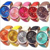 Reloj Relojes Geneva Mayoreo 10 Piezas Envio Gratis
