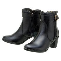 Bota Feminina Cano Curto Art Shoes Ankle Boot Couro Legítimo
