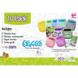 Paquete Ecopipo 10 Pañales + Detergente + 2 Papel Bambú