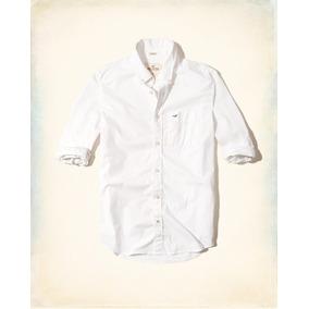Hollister Caballero Camisa De Poplin Color Blanca Originales