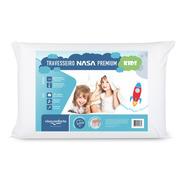 Travesseiro Nasa Nap Kids Branco Viscoelástico