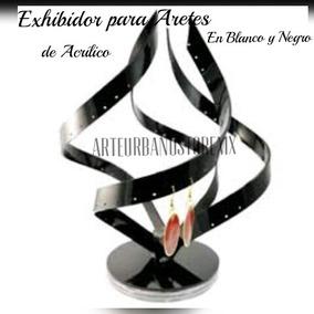 Exhibidor De Aretes De Acrílico En Espiral Giratorio Mediano