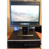 Computadora Hp Intel Core 2 Duo 3 Ghz Con Monitor Lenovo 17