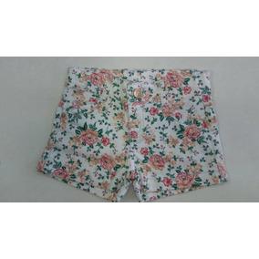 Kit 6 Shorts Jeans Infantil Feminino Estampado Florido