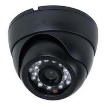 Camera Circuito Fechado Tv Dome Preta Infra24 Leds- Cód. T13