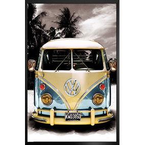 Quadro Grande 70x50 Carro Antigo Fusca Kombi Rocklive