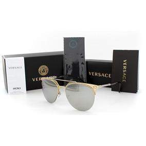 Lentes Versace 2181 Peal Gold - Silver Mirror Original Nuevo