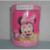 Potes Con Tapa Minnie Bebe, Minnie Grande, Mickey Y +.