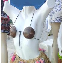 Fantasia Havaiana India Bustier Bikini Top De Coco -ei
