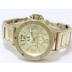 Reloj Para Hombre Armani Ax1504 Dorado Auténtico Envío Grati