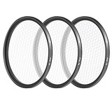 Neewer 58mm 3 Pieces Points Star Lens Filters Kit For Canon