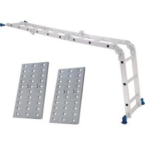 Escada Multifuncional 4x3 Em Alumínio C/ Plataf. 12 Degraus