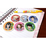 Set De 6 Stickers Circulares De Anime - My Hero Academia