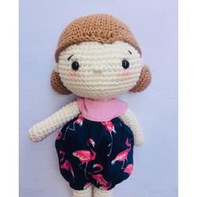 Amigurumi Boneca Crochê Brinquedo Presente