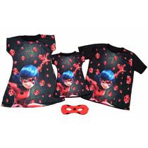 Ladybug E Cat Noir- Kit Familia - Mãe, Pai E Filha Ou Filho