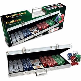 Poker 500 Fichas Profesional + Cartas + Estuche De Aluminio!