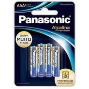 60 Pilha Palito Aaa Alcalina Premium Evolta Panasonic 1x6