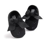 Baby Girls Princess Zapatos Lona Sneaker 0-6 Meses Negro