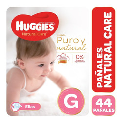 Pañales Huggies Natural Care Ellas - Talles M G Xg Xxg