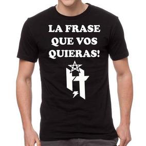 Remera Con Tu Frase De Hermetica H Iorio Metal Musica